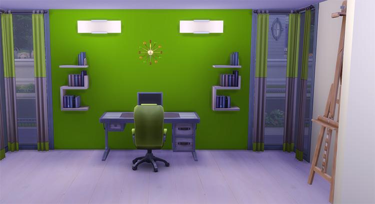 Modern Wall Clock Sims 4 CC