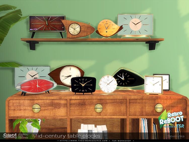 Mid-Century Table Clocks TS4 CC