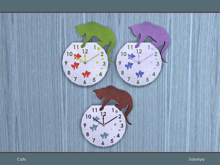 Cats Wall Clock Sims 4 CC
