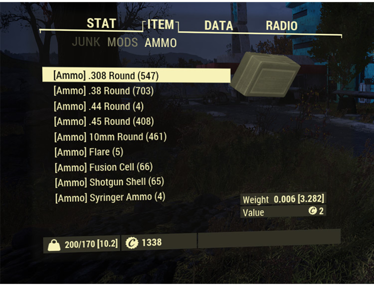 Easy Sorting and Tagging Fallout 76 Mod