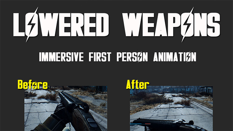 Lowered Weapons 76 Mod for Fallout 76