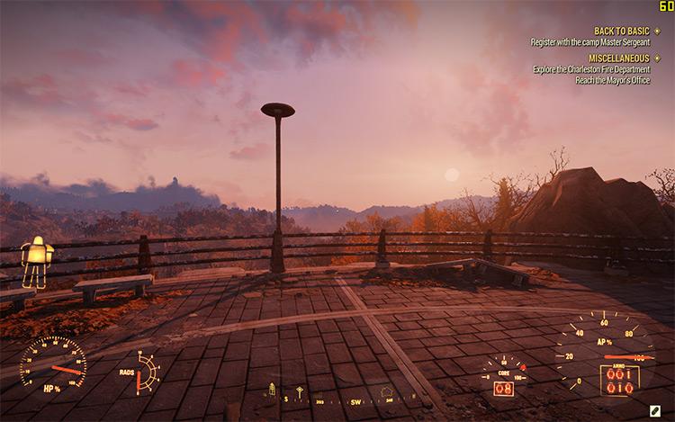 Power Armor Clean HUD Fallout 76 Mod