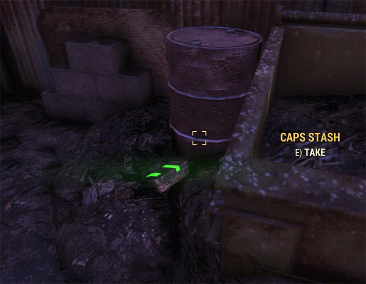 Glowing Caps Stash Tin Fallout 76 Mod