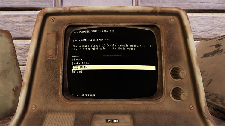 Quizzless Appalachia Fallout 76 Mod screenshot