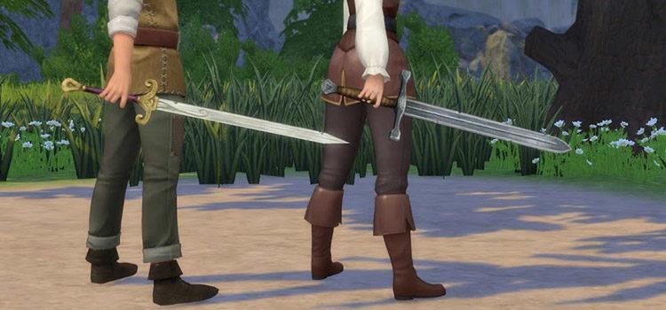 Custom Swords For The Sims 4 (CC + Mods)