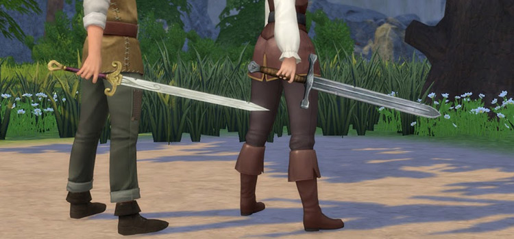 Sword Practice Mod in The Sims 4