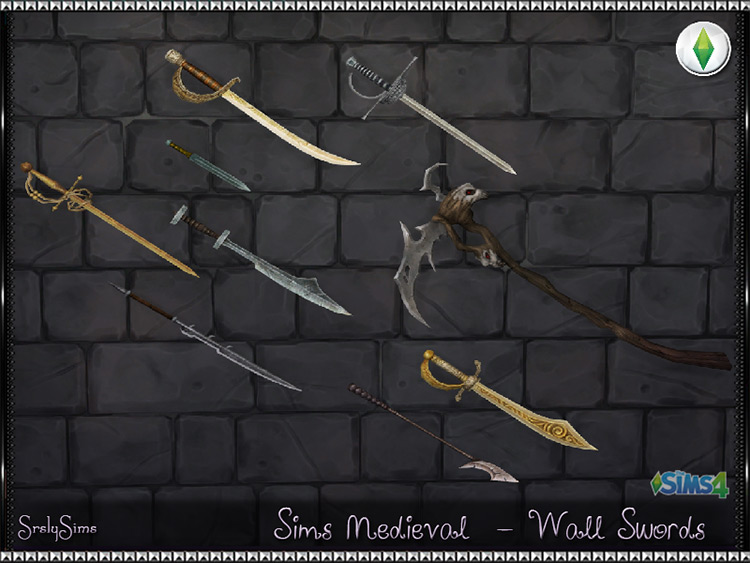Wall Swords Set for Sims 4