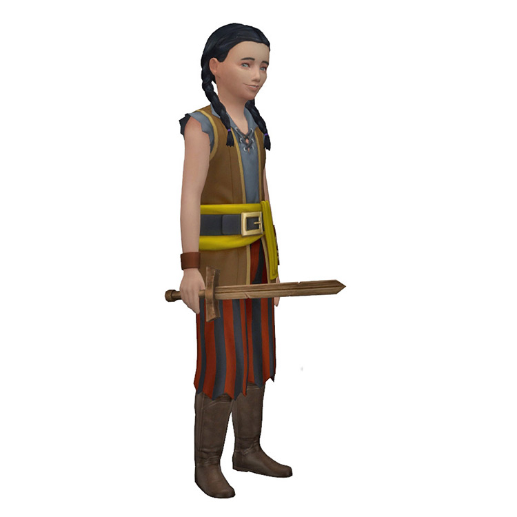 Medieval Conversion Sword Sims 4 CC