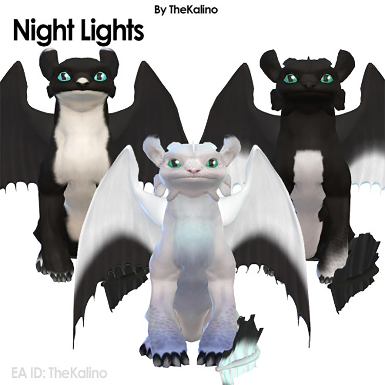 Night and Light Fury for Sims 4