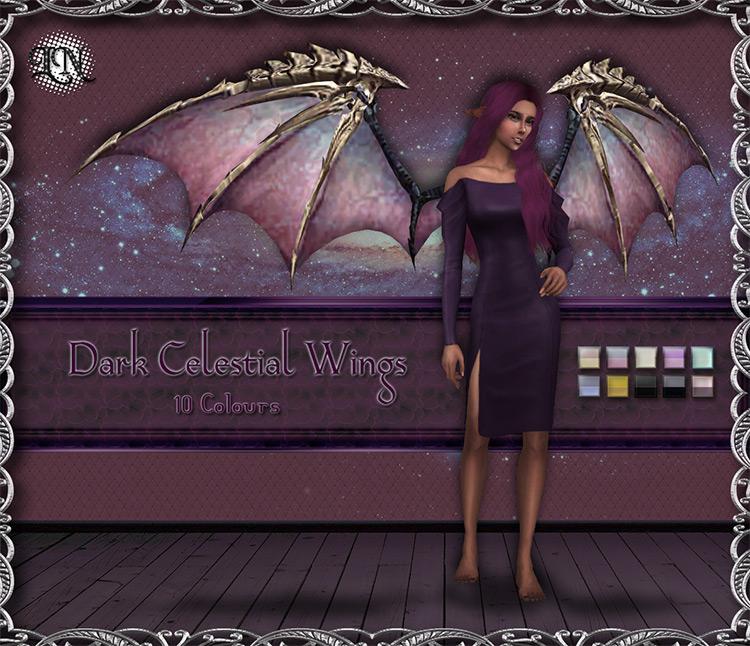 Dark Celestial Wings TS4 CC