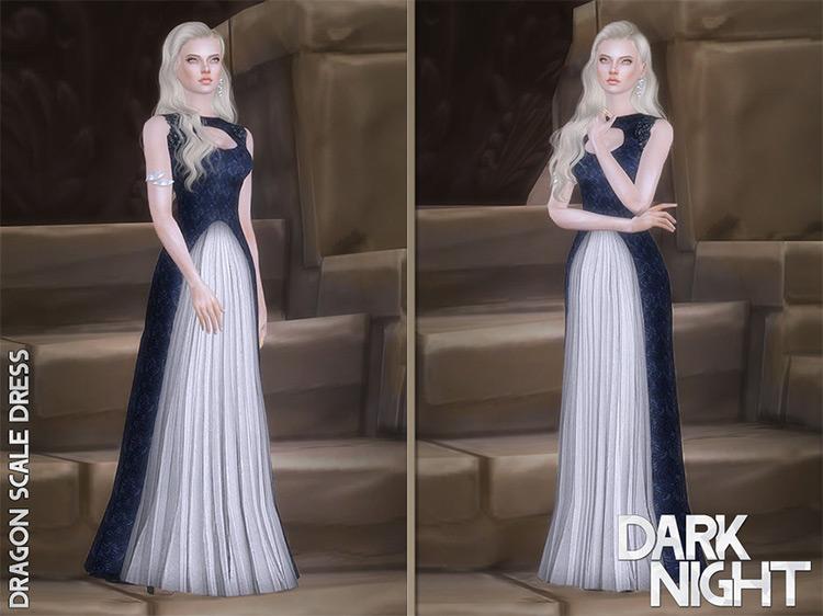 Dragon Scale Dress Sims 4 CC