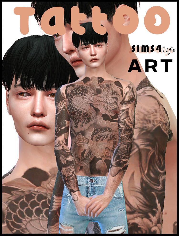 Yakuza Tattoo for Sims 4