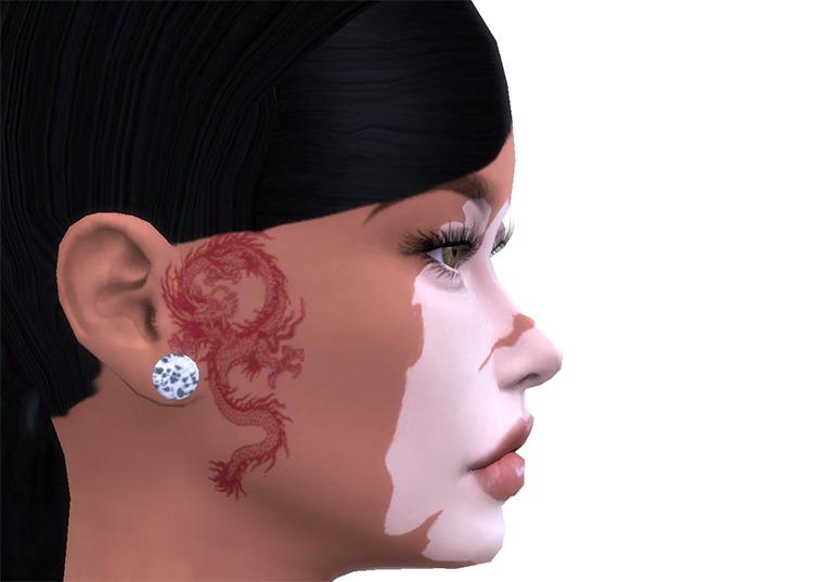 Dragon Face Tattoo TS4 CC