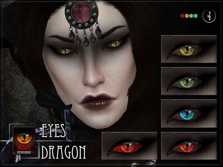Dragon Eyes Sims 4 CC