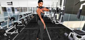 Girl Selfie Pose at the gym / The Sims 4