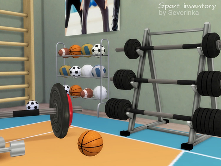 Sport Inventory Set for Sims 4