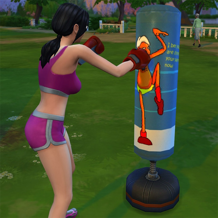 Punch Em Up! Redesigned Punching Bag Sims 4 CC