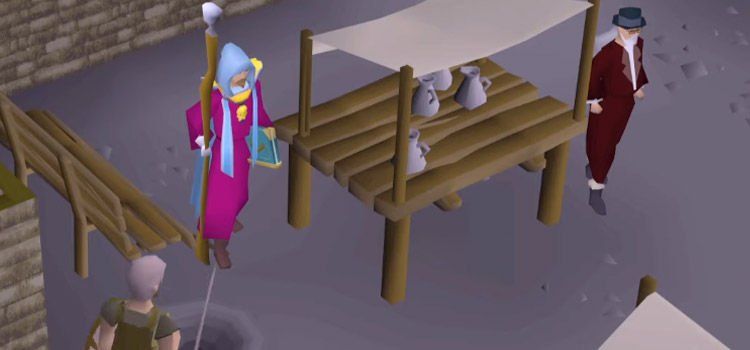 Old School RuneScape thieving from market stall