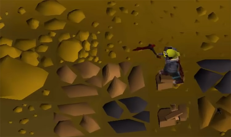 Close-up of mining ore in OSRS