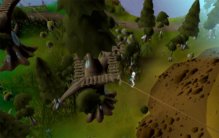 Agility wire course in Prifddinas / OSRS