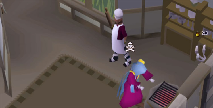 Cooking on an oven / OSRS HD Screenshot