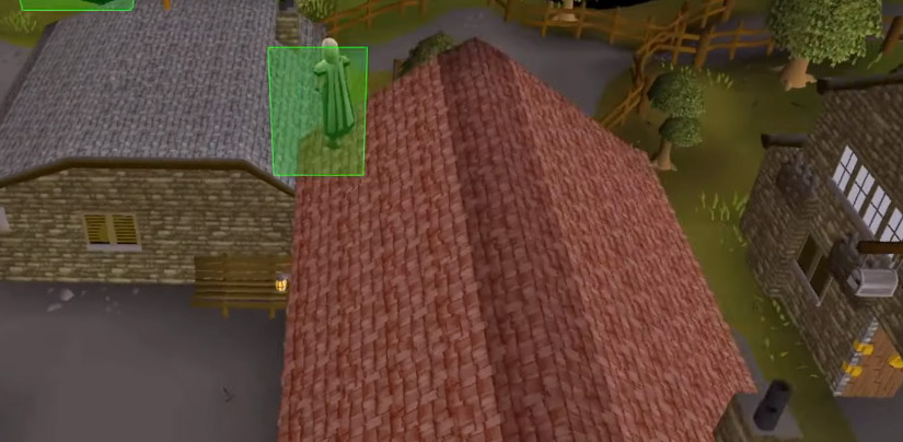 Rooftop agility course screenshot in OSRS