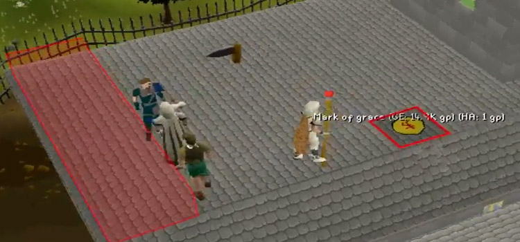 Mark of grace on a rooftop agility course / OSRS