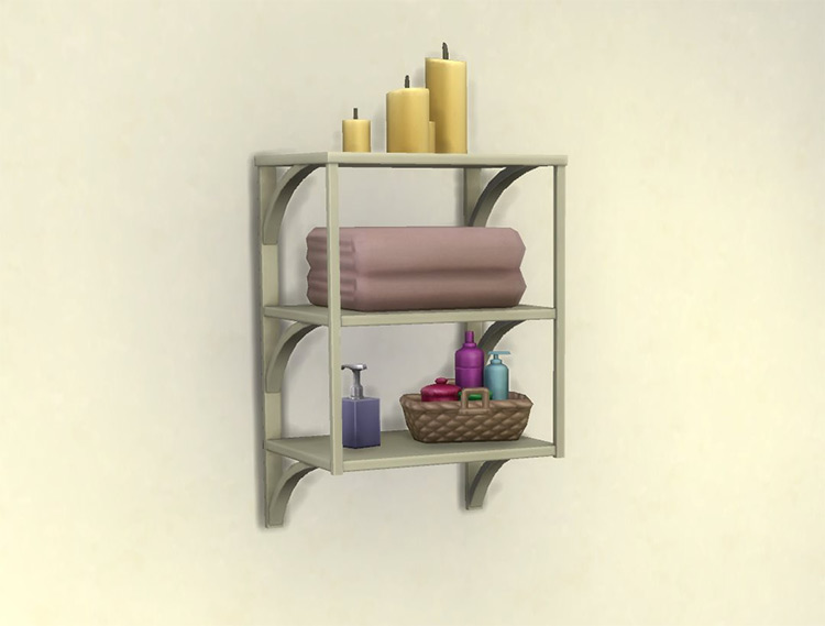 Functional Towel Rack for Sims 4