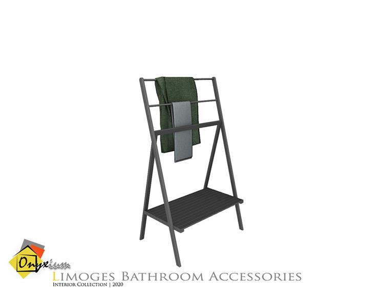 Limoges Towel Holder Sims 4 CC