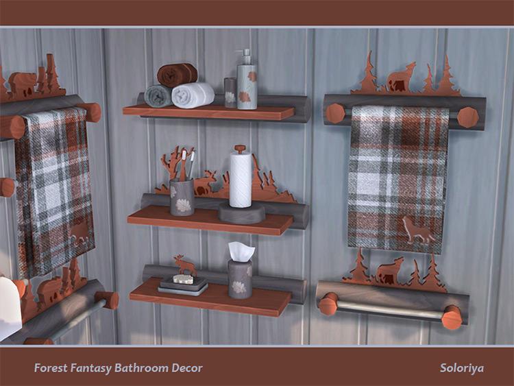 Forest Fantasy Bathroom Decor TS4 CC