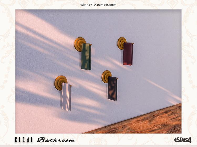 Regal Towel Holders Sims 4 CC