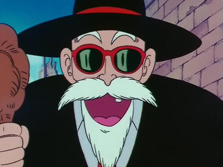 Master Roshi in Dragon Ball anime