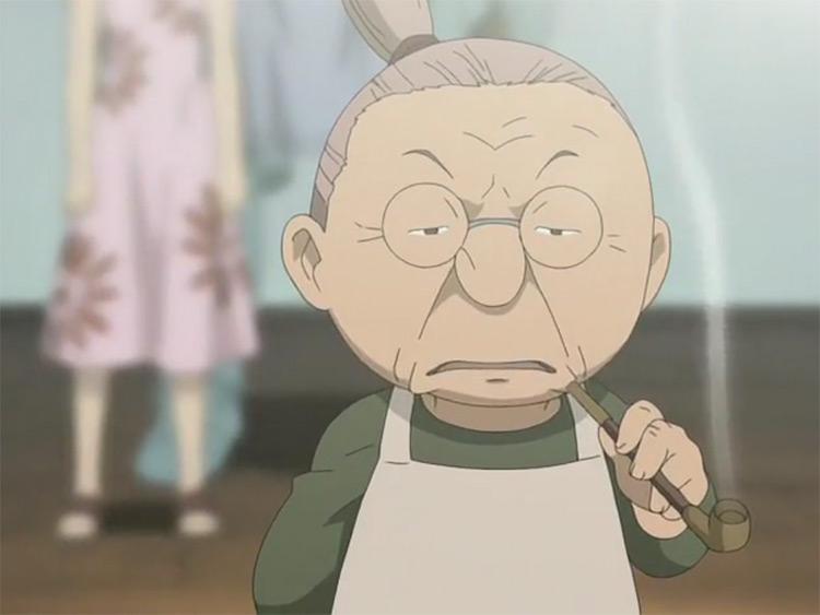 Pinako Rockbell from Fullmetal Alchemist anime