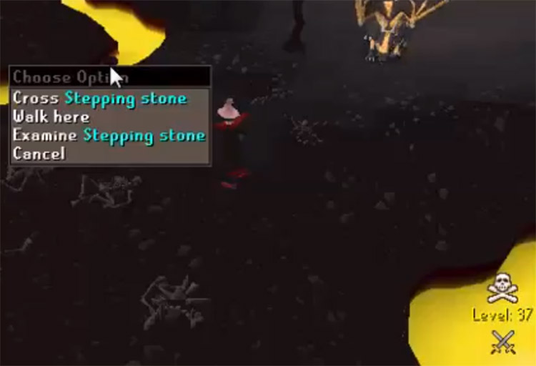 Lava Maze Stepping Stone Agility Shortcut in OSRS