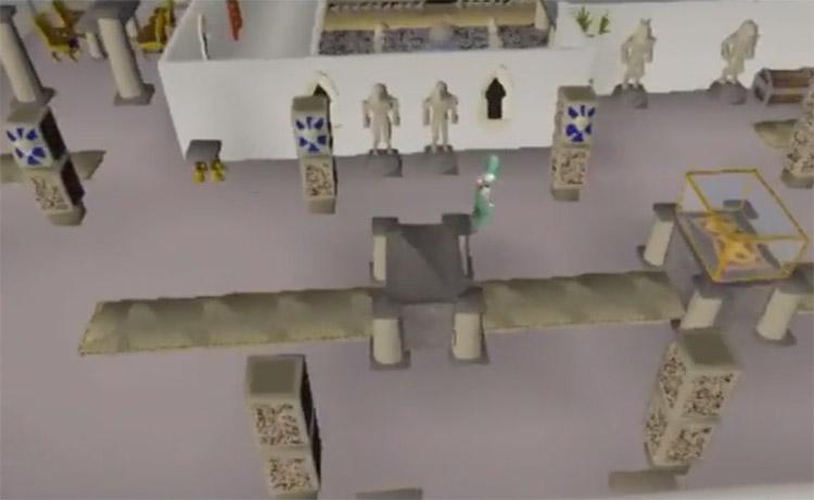 Screenshot inside Al Kharid Palace in OSRS