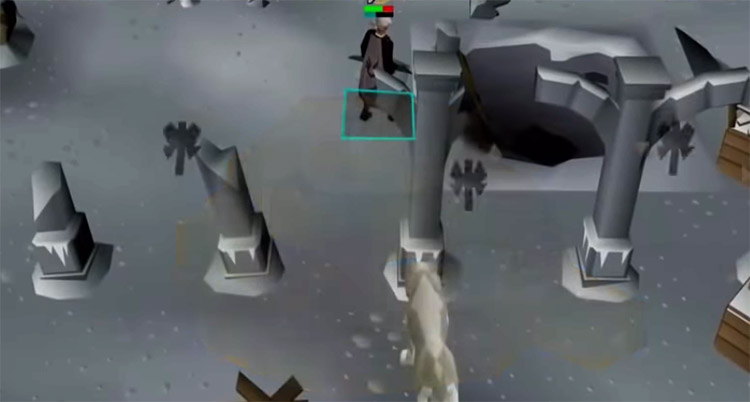 Agility shortcut entrance to Gods Dungeon in OSRS
