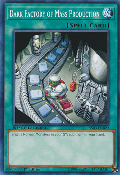 Dark Factory of Mass Production YGO Card
