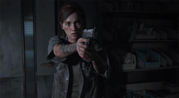 Ellie in The Last of Us game