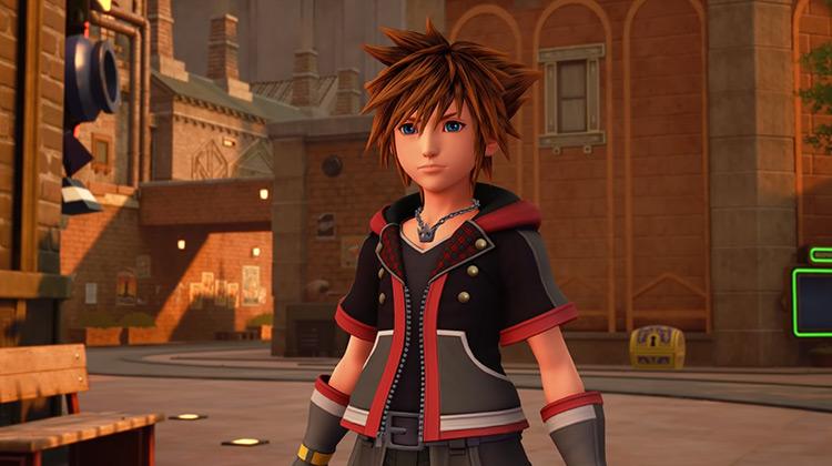 Sora from Kingdom Hearts III game