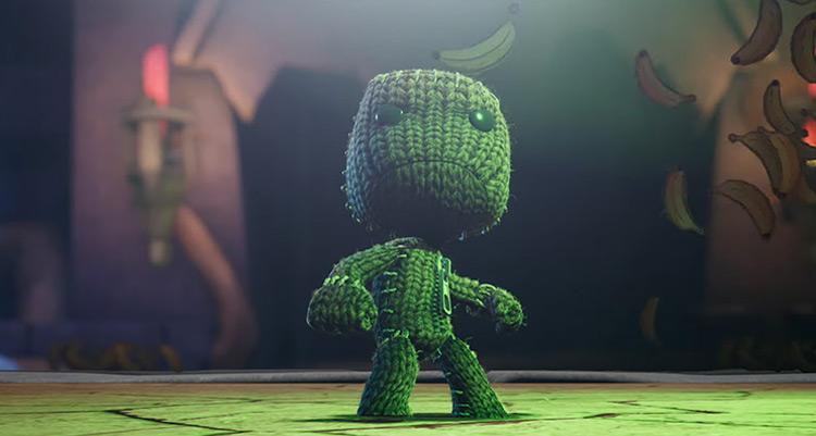 Sackboy from Little Big Planet game screenshot