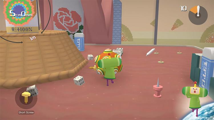 The Prince of All Cosmos in Katamari Damacy game screenshot
