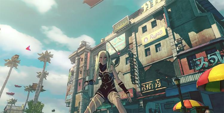 Kat from Gravity Rush gameplay