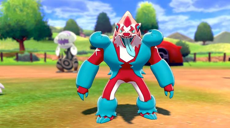 Shiny Obstagoon in Pokémon SWSH