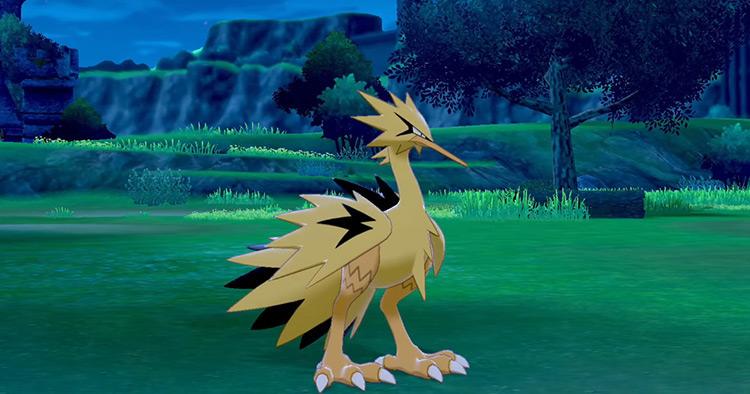 Shiny Galarian Zapdos in Pokémon SWSH
