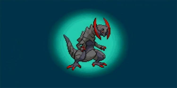 Shiny Haxorus in Pokémon Black 2 and White 2