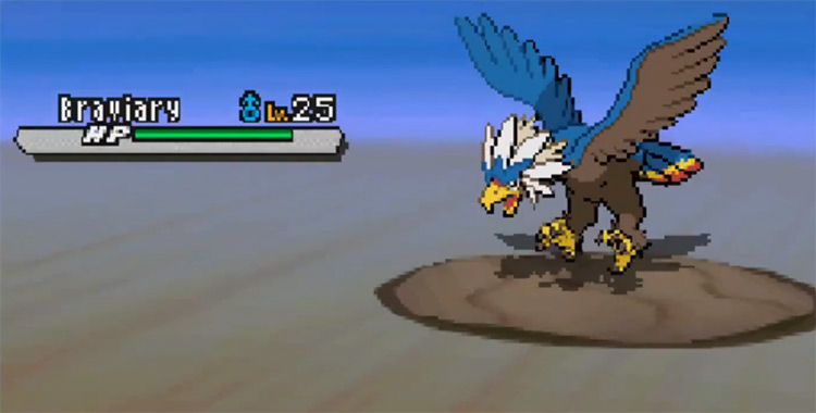 Shiny Braviary in Pokémon BW2