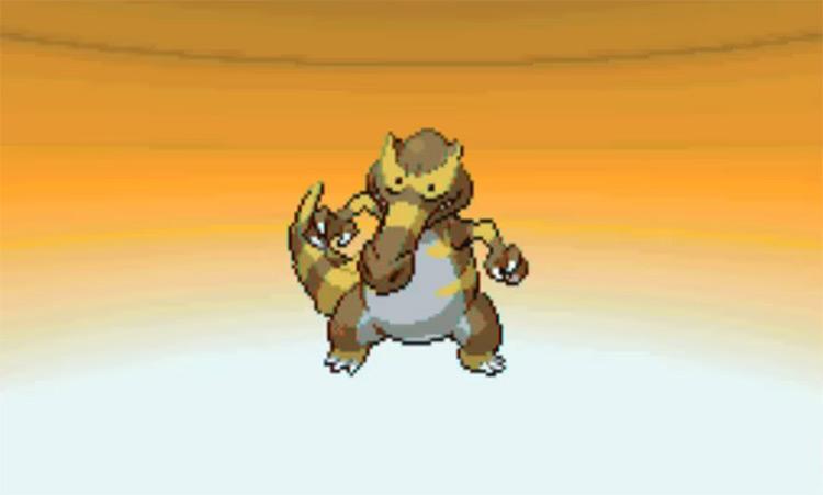 Shiny Krookodile in Pokémon Black 2 and White 2