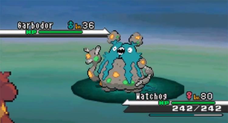 Shiny Garbodor from Pokémon BW