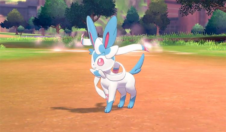 Shiny Sylveon from Pokémon Sword and Shield