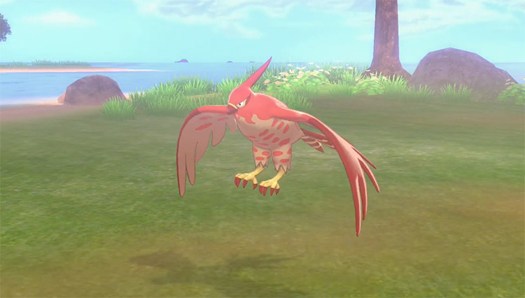 Shiny Talonflame from Pokémon Sword and Shield